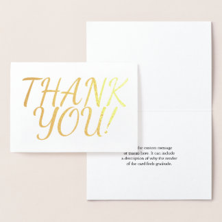 "Plain & Minimal ""THANK YOU!"" Card"