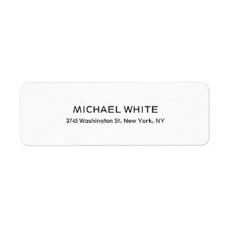 Plain Modern Black White Minimalist Legible