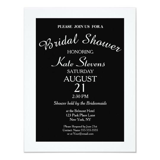 Plain Modern Bridal Shower Card