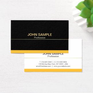 Plain Modern Professional Black Gold Elegant Business Card
