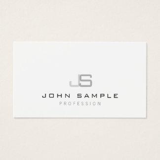 Plain Modern Professional Elegant Monogram Simple Business Card