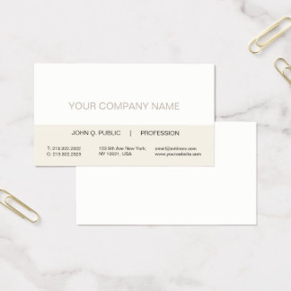 Plain Modern Professional Trendy Color Harmonie Business Card