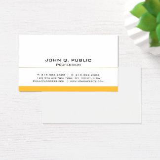 Plain Modern Professional White Gold Basic Business Card