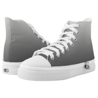 Plain One Color Gradient Grey High Tops