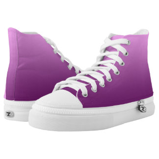 Plain One Color Gradient Pink High Tops