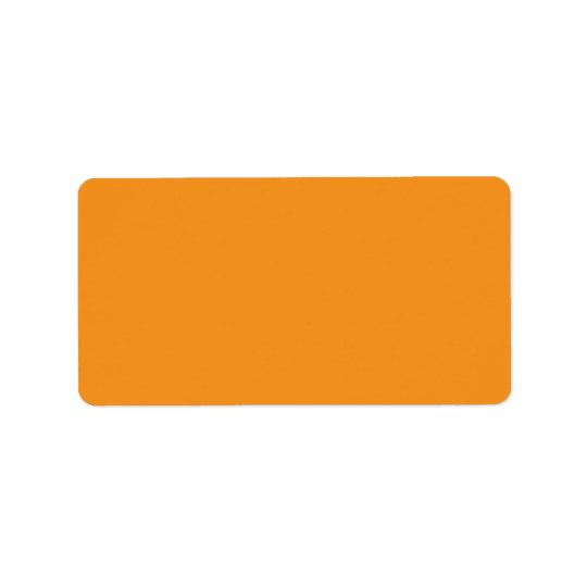 Plain orange background blank custom address label