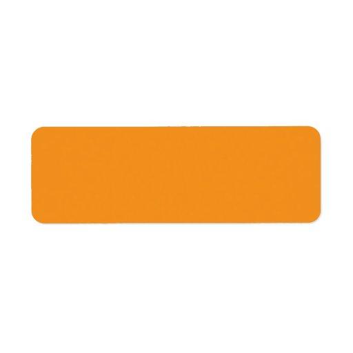 Plain orange background blank custom address label