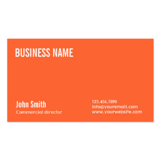 Plain Orange Commercial Director Business Card
