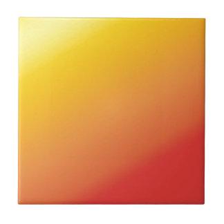 Plain Orange Gold Red Shade Tile