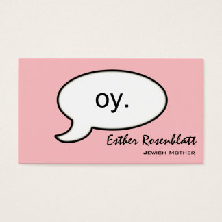 Plain Oy Cloud Jewish Mother Business Card