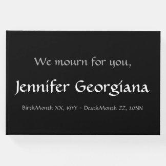 Plain, Personalized Condolences Guestbook