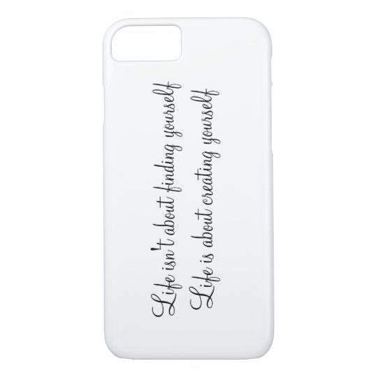 Plain Phone Case with Quotes