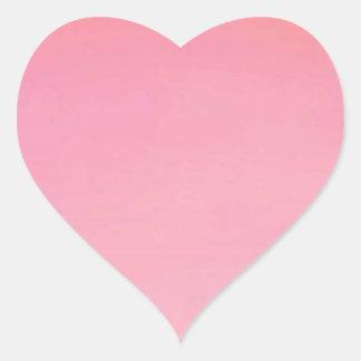 Plain PINK Golden shades Heart Sticker