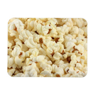 Plain popcorn close up. rectangular photo magnet