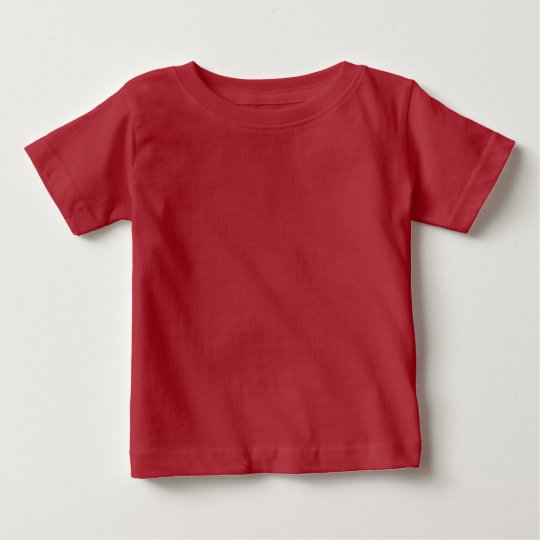 Plain Red Baby Fine Jersey T-Shirt