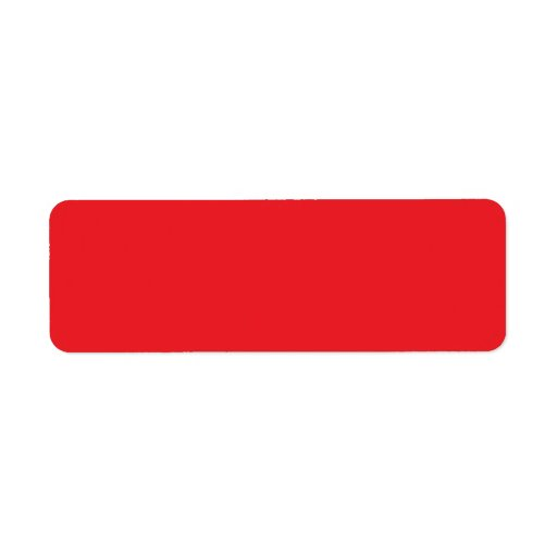 Plain red background blank custom return address labels
