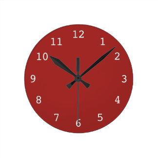 Plain red clock