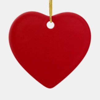 Plain Red Color Ceramic Ornament