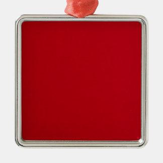 Plain Red Color Metal Ornament