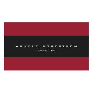 Plain Red Dark Grey Professional Business Card