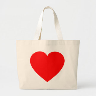 Plain Red Heart Large Tote Bag