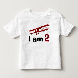 Plain Red Plane Birthday Toddler T-shirt