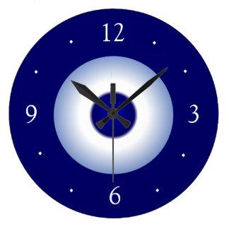 Plain Royal/Blue and White Plain Kitchen Clock