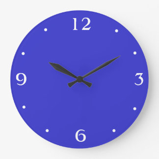 Plain Royal Blue and white> Plain Kitchen Clocks