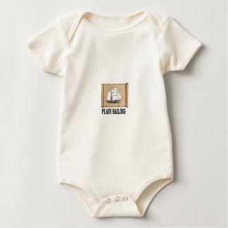 plain sailing boat baby bodysuit