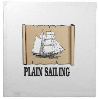plain sailing boat napkin