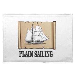 plain sailing boat placemat