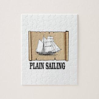 plain sailing boat puzzle