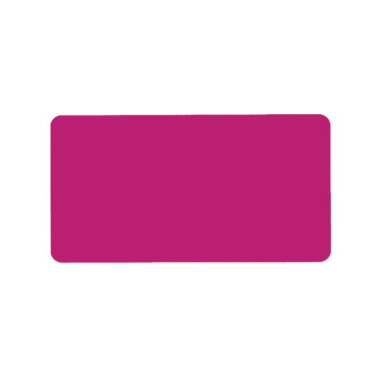 Plain saturated plum background blank custom label