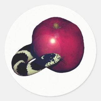 Plain Serpent Apple Jesse Tree Sticker