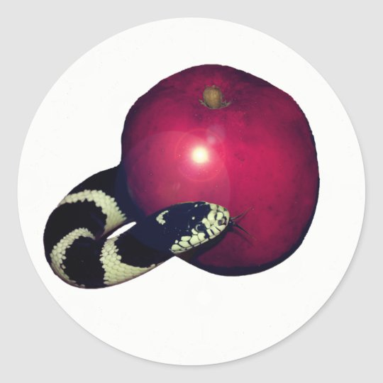 Plain Serpent Apple Jesse Tree Sticker