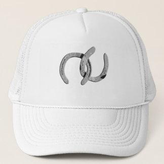 Plain Silver Horse Shoes Trucker Hat