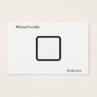 Plain Simple Elegant Black White Minimalist Modern Business Card