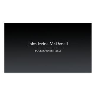 Plain & Simple Gradient Black Business Card