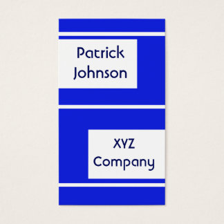 plain simple royal blue business card