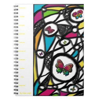 Plain Social Butterfly  By Aliya Leigh Spiral Notebooks