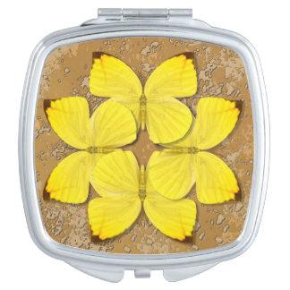 Plain Sulphur Butterfly Wheel Mirror For Makeup