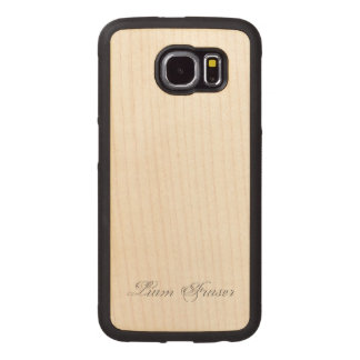 Plain Text Stylized 3d Monogram Wood Phone Case