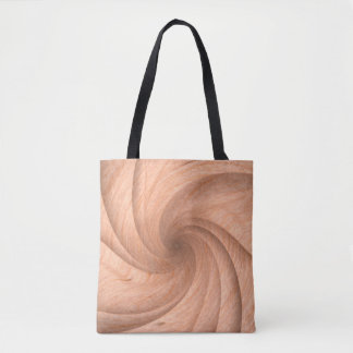 Plain Twisted wood design tote bags