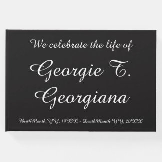 "Plain ""We celebrate the life of"" Funeral Guestbook"