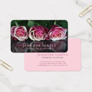 Plain Wedding Planner Modern Professional Floral Business Card