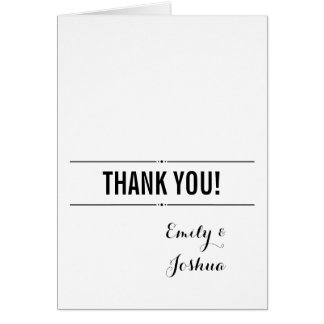 Plain Wedding Thank You Card Custom Template