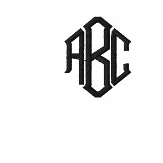 Plain White Embroidered Mens Monogram Template
