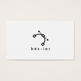 Plain white modern graphic designer logo minimal business card