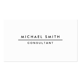 Plain White Professional Elegant Modern Simple Business Card