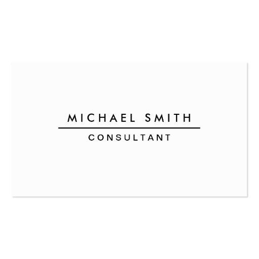 Plain White Professional Elegant Modern Simple Business ...